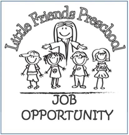 Little Friends Preschool Teacher Wanted